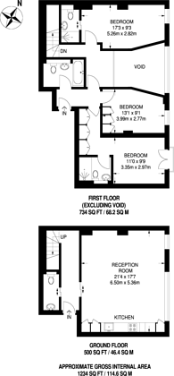 Large floorplan for Searcy House, Between the Commons, SW11