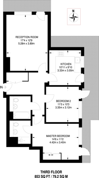 Large floorplan for Peacock Close, Mill Hill East, NW7