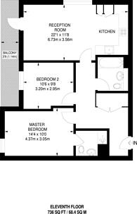 Large floorplan for Christian Street, Aldgate, E1