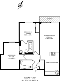 Large floorplan for Millharbour, Isle Of Dogs, E14