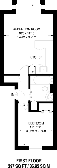 Large floorplan for Cotton Avenue, Acton, W3