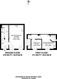 Large floorplan for Wharf Road, Guildford, GU1
