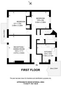 Large floorplan for Wandsworth Road, Nine Elms, SW8