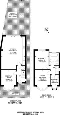 Large floorplan for Elton Avenue, Barnet, EN5