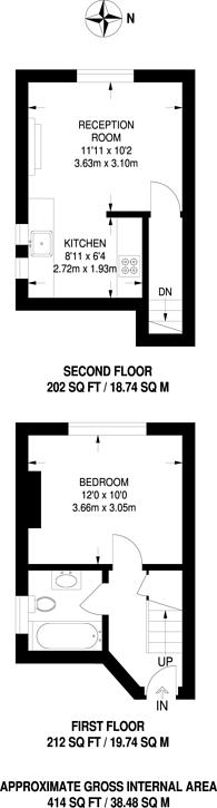 Large floorplan for Gladstone Road, Wimbledon, SW19
