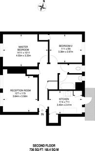 Large floorplan for Glazebrook Close, West Dulwich, SE21