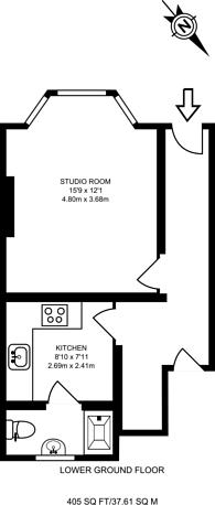 Large floorplan for Belfort Road, Peckham, SE15