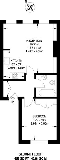 Large floorplan for Chepstow Crescent, Notting Hill, W11