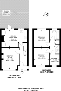 Large floorplan for Kenmare Road, Croydon, CR7