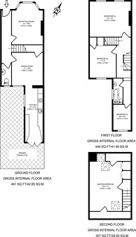 Large floorplan for Montgomery Road, Acton Green, W4