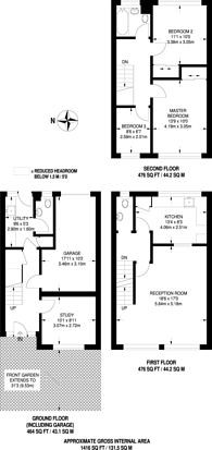 Large floorplan for Thornton Dene, Beckenham, BR3