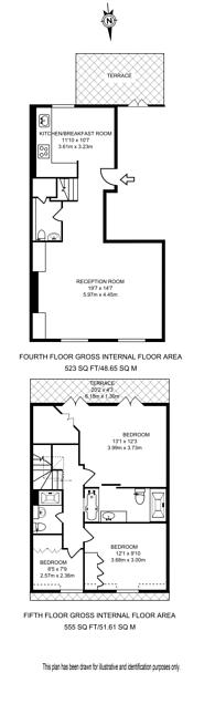 Large floorplan for Elvaston Place, Knightsbridge, SW7