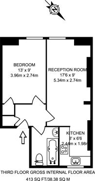 Large floorplan for Edgware Road, Lisson Grove, W2