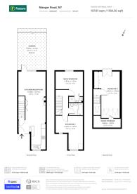 Large floorplan for Manger Road, Islington, N7