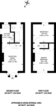 Large floorplan for Choumert Square, Peckham Rye, SE15