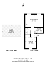 Large floorplan for Calthorpe Street, Bloomsbury, WC1X