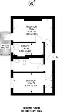 Large floorplan for Warwick Grove, Clapton, E5