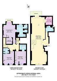 Large floorplan for Dunraven Street, Mayfair, W1K