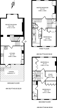 Large floorplan for Chesson Road, Barons Court, W14