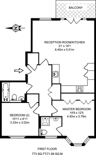 Large floorplan for Graham Road, Chiswick, W4