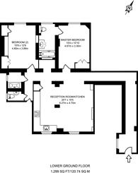 Large floorplan for Palace Court, Bayswater, W2