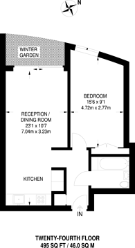 Large floorplan for Wandsworth Road, Vauxhall, SW8
