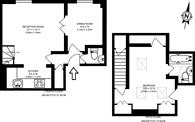 Large floorplan for Southwell Gardens, South Kensington, SW7