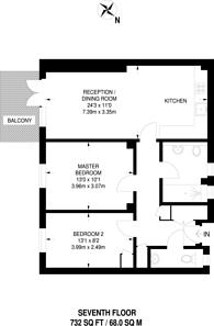 Large floorplan for Ebury Street, Belgravia, SW1W
