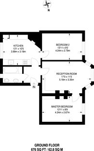 Large floorplan for Stanlake Road, Shepherd's Bush, W12