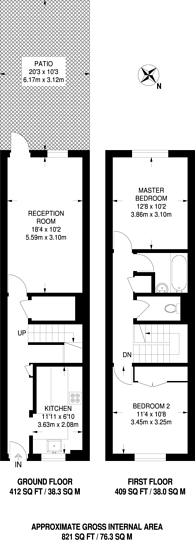 Large floorplan for Evering Road, Stoke Newington, N16