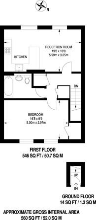 Large floorplan for St Kitts Terrace, Gipsy Hill, SE19