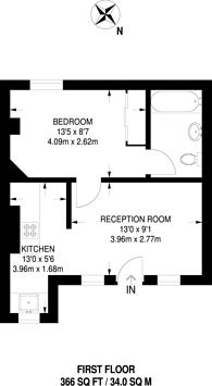 Large floorplan for London Road, West Croydon, CR0