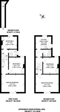 Large floorplan for Springbank Road, Hither Green, SE13