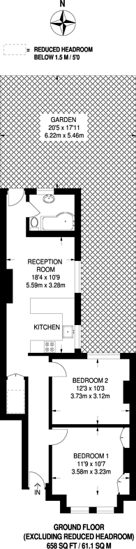 Large floorplan for Penwith Road, Earlsfield, SW18