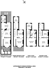 Large floorplan for Edith Grove, Chelsea, SW10