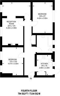 Large floorplan for Sion Road, St Margarets, TW1