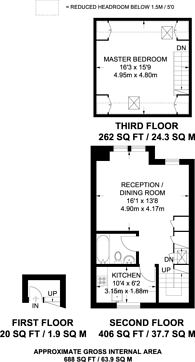 Large floorplan for Brook Drive, Elephant and Castle, SE11