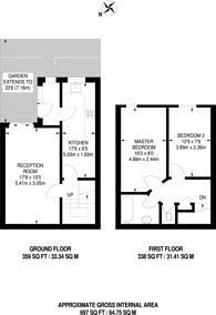 Large floorplan for Caldy Walk, Islington, N1