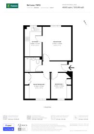Large floorplan for Bel Lane, Feltham, TW13