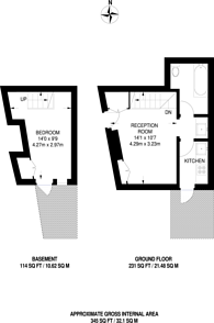 Large floorplan for Berrylands Road, Berrylands, KT5