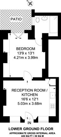 Large floorplan for Vincent Square, Westminster, SW1P
