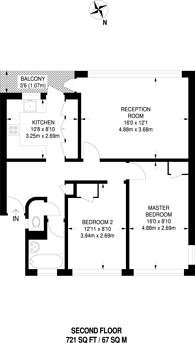 Large floorplan for Churchill Gardens, Pimlico, SW1V