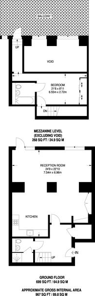 Large floorplan for Batchelor Street, Barnsbury, N1