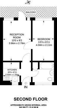 Large floorplan for Westbury Court, Forest Gate, E7