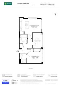 Large floorplan for Croydon Road, Beckenham, BR3