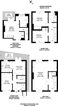 Large floorplan for Hollywood Road, Chelsea, SW10