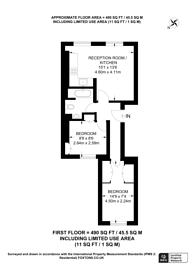 Large floorplan for Star Street, Paddington, W2