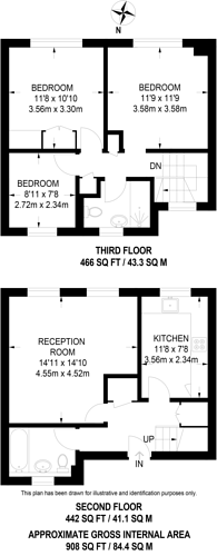 Large floorplan for Charnwood Close, New Malden, KT3