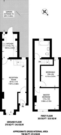 Large floorplan for Beaconsfield Road, Croydon, CR0