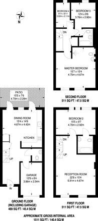 Large floorplan for Abinger Mews, Maida Vale, W9